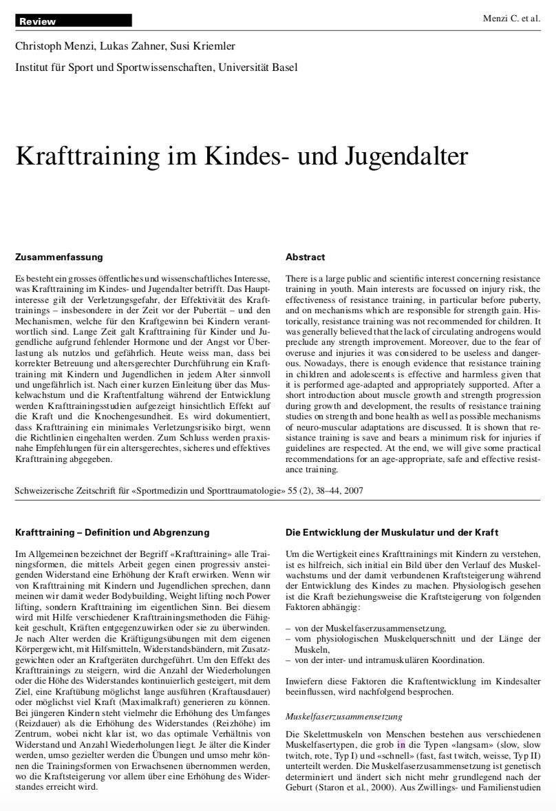 Preview image for LOM object Krafttraining im Kindes- und Jugendalter