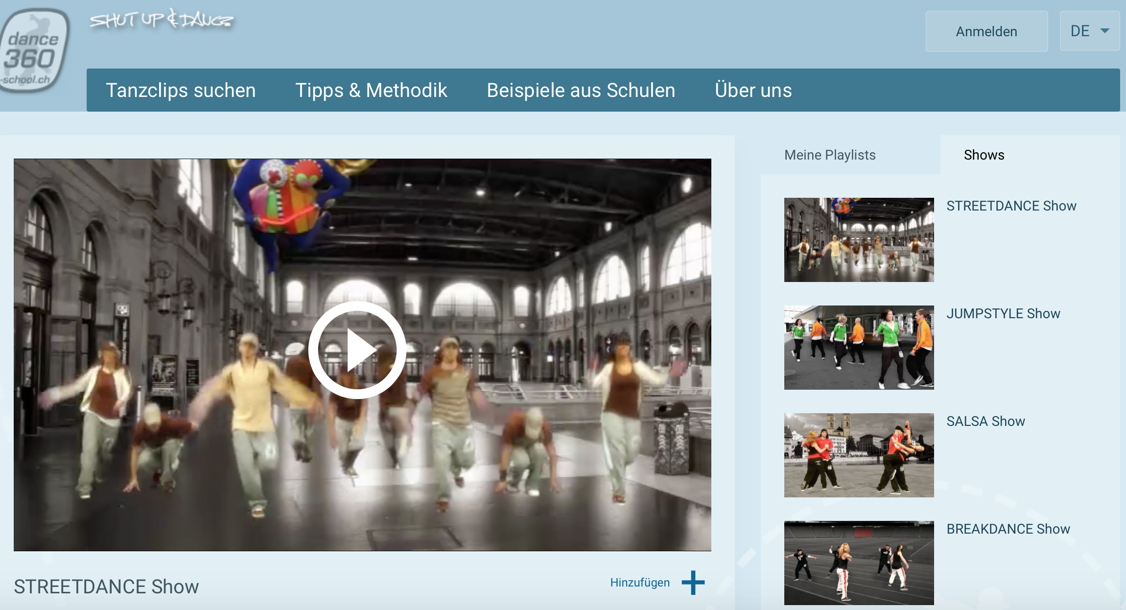 Preview image for LOM object www.dance360-school.ch