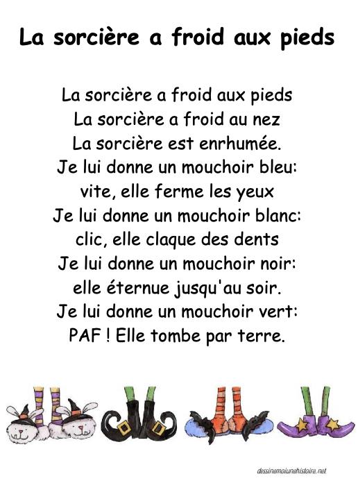 Preview image for LOM object La poème et comptine: La sorcière a froid aux pieds