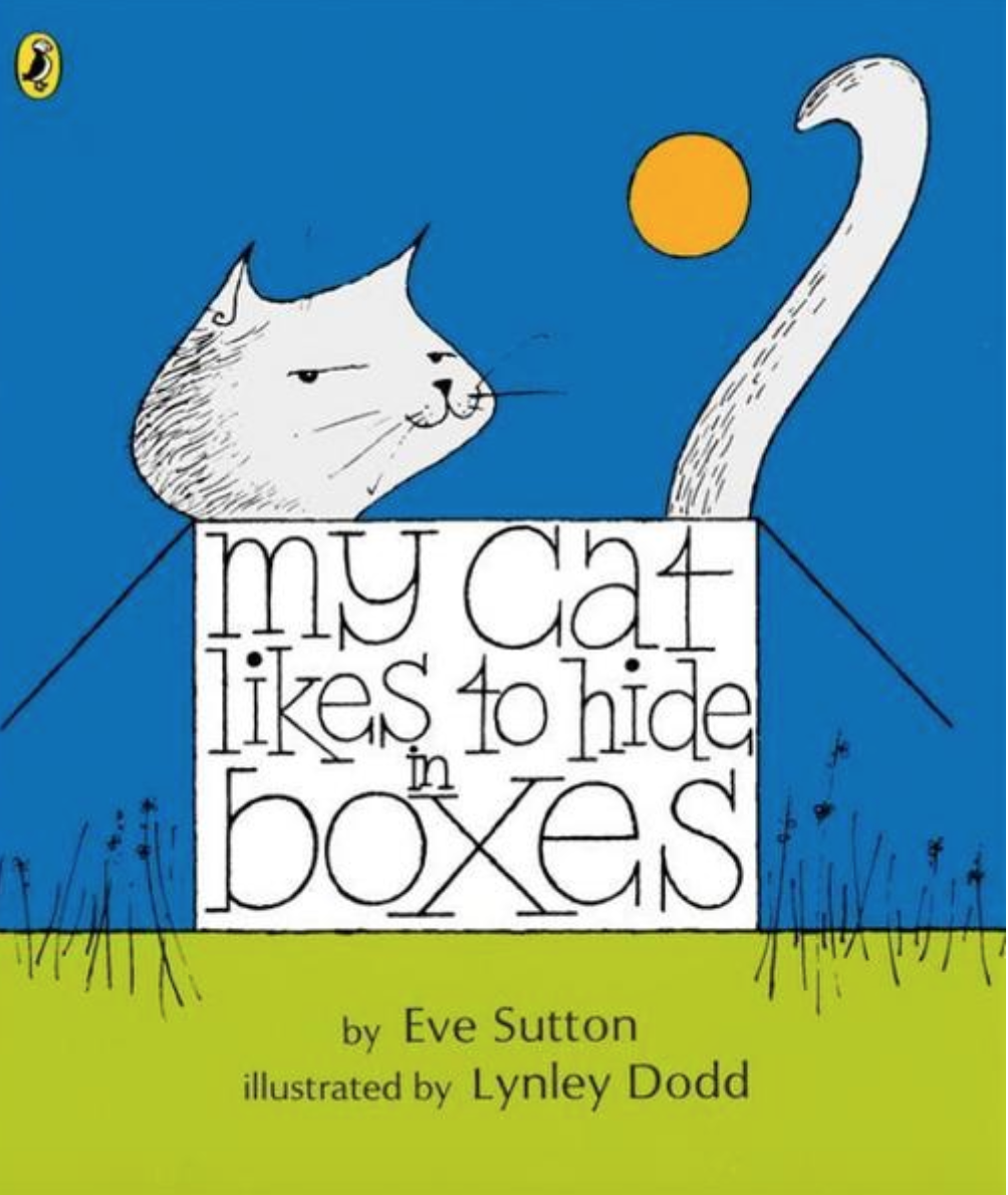 Preview image for LOM object Treasure hunt reading activity: My cat likes to hide in boxes