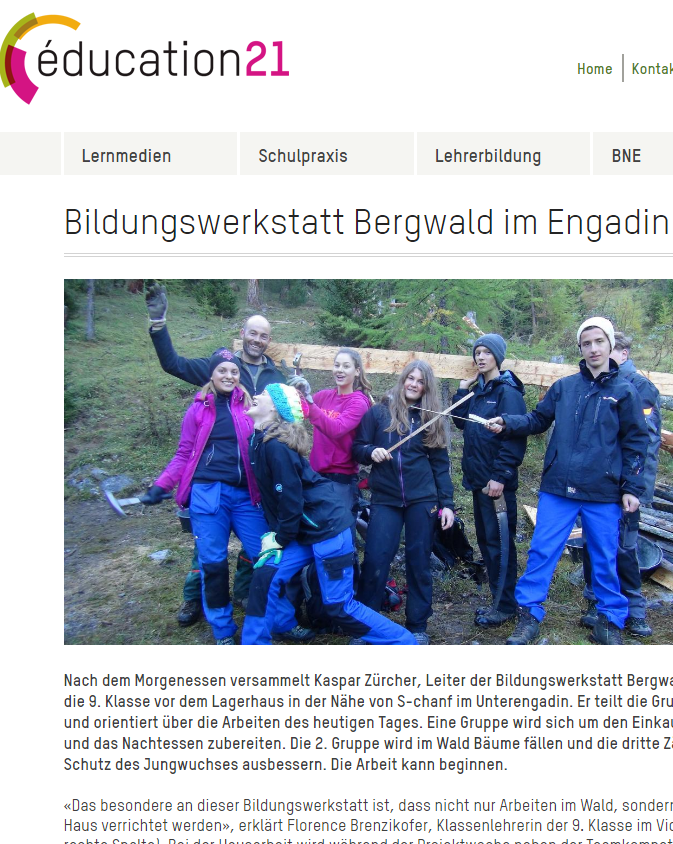 Preview image for LOM object Bildungswerkstatt Bergwald im Engadin