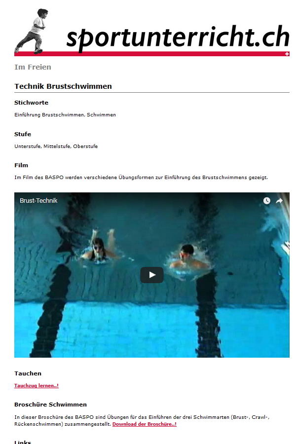 Preview image for LOM object Technik (-Video) Brustschwimmen