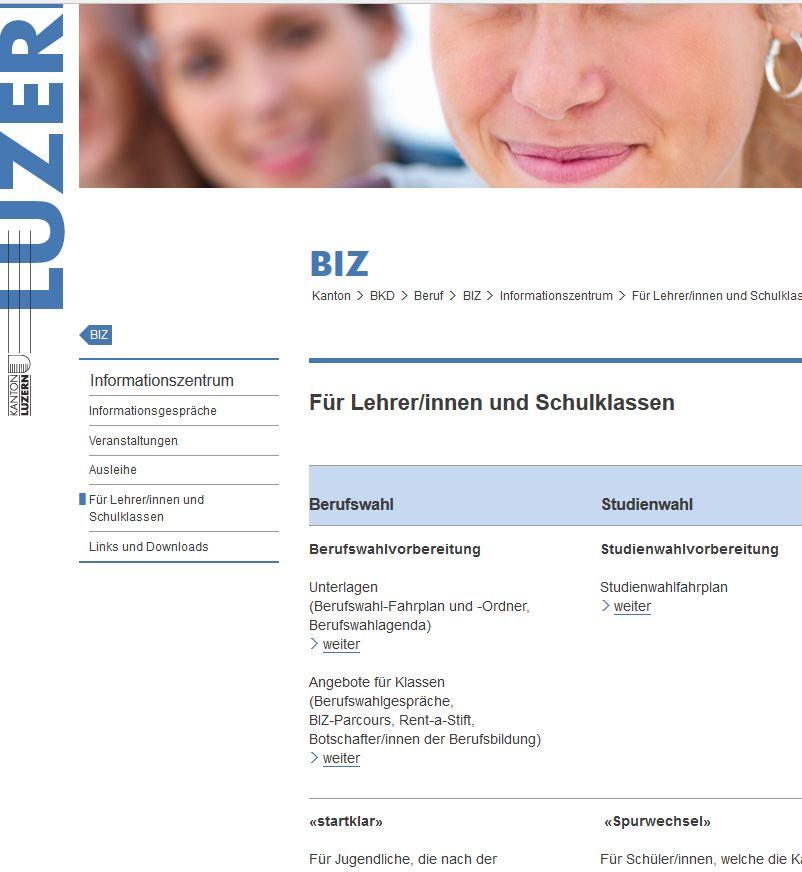 Preview image for LOM object Berufs-, Studien- und Laufbahnberatung Kanton Luzern