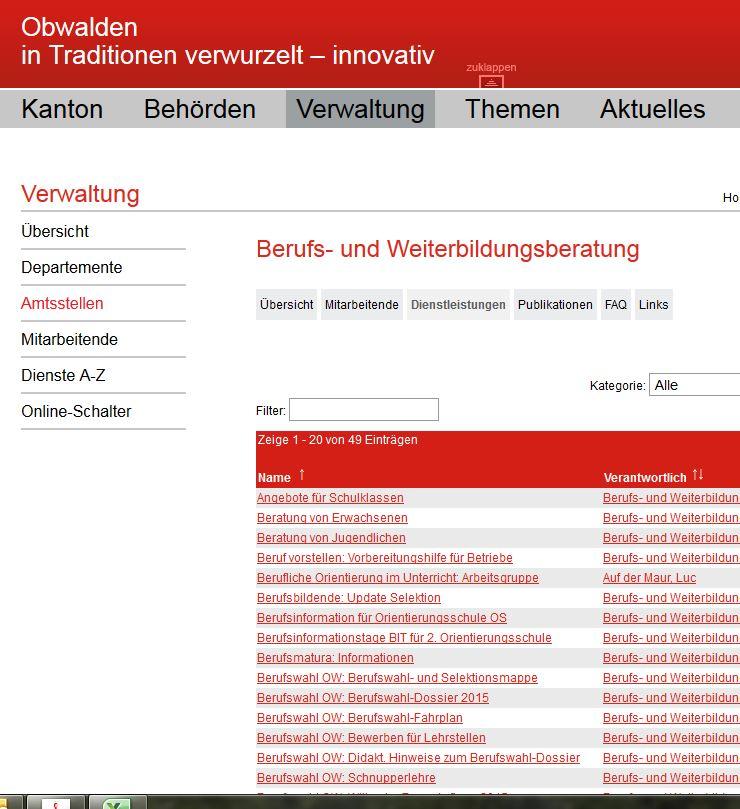 Preview image for LOM object Berufs- und Weiterbildungsberatung Kanton Obwalden
