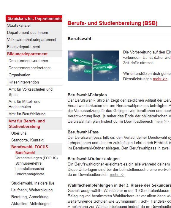 Preview image for LOM object Berufs- und Studienberatung Kanton Schwyz