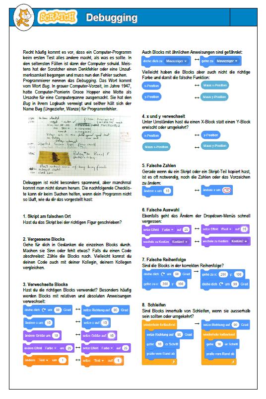 Preview image for LOM object Debugging-Checkliste für das Arbeiten mit Scratch 3.0