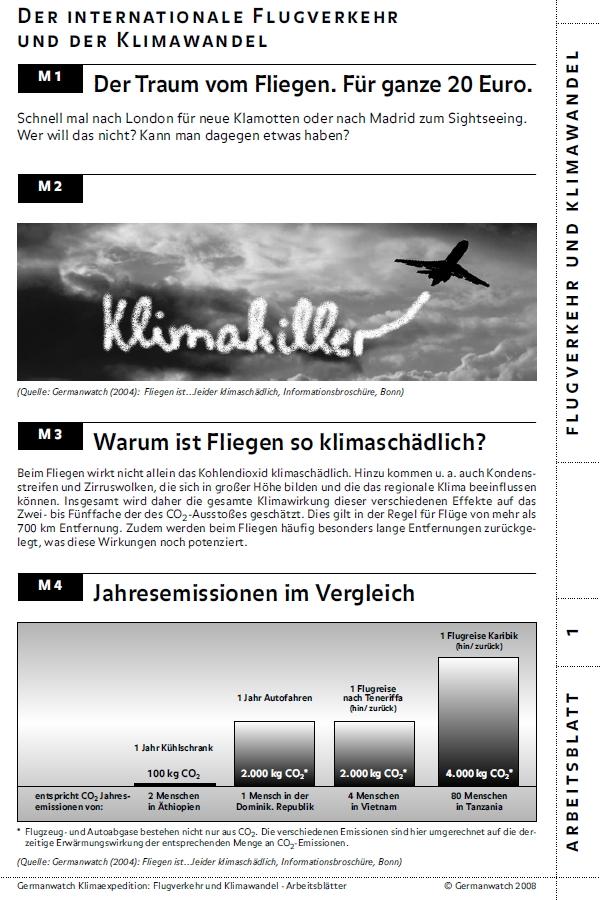 Preview image for LOM object Flugverkehr und Klimawandel