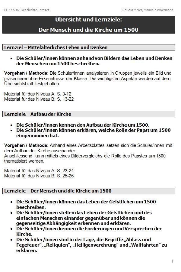 Preview image for LOM object Der Mensch und die Kirche um 1500