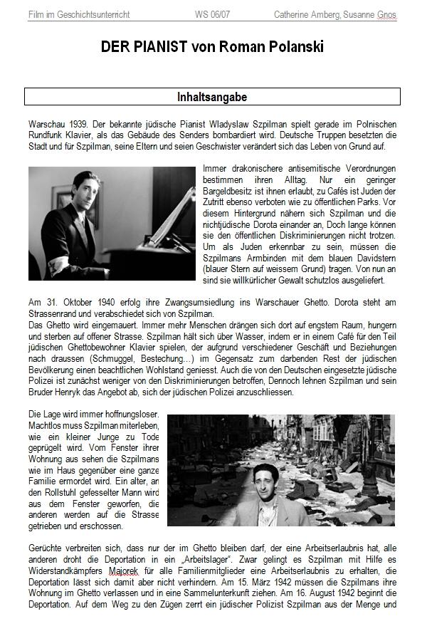 "Preview image for LOM object ""Der Pianist"" von Roman Polanski"
