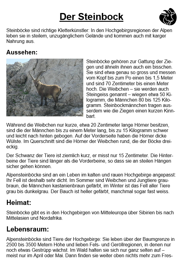 Preview image for LOM object Der Steinbock