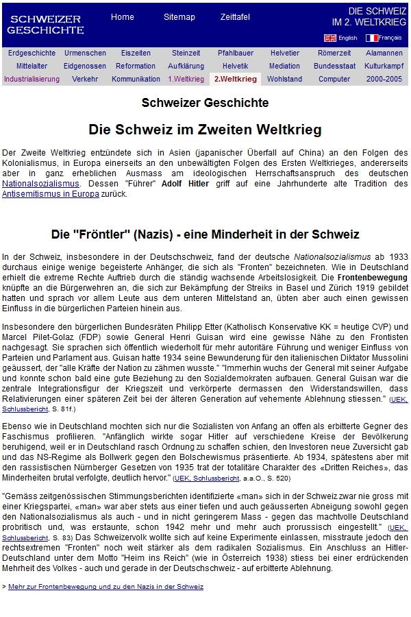 Preview image for LOM object Die Schweiz im Zweiten Weltkrieg