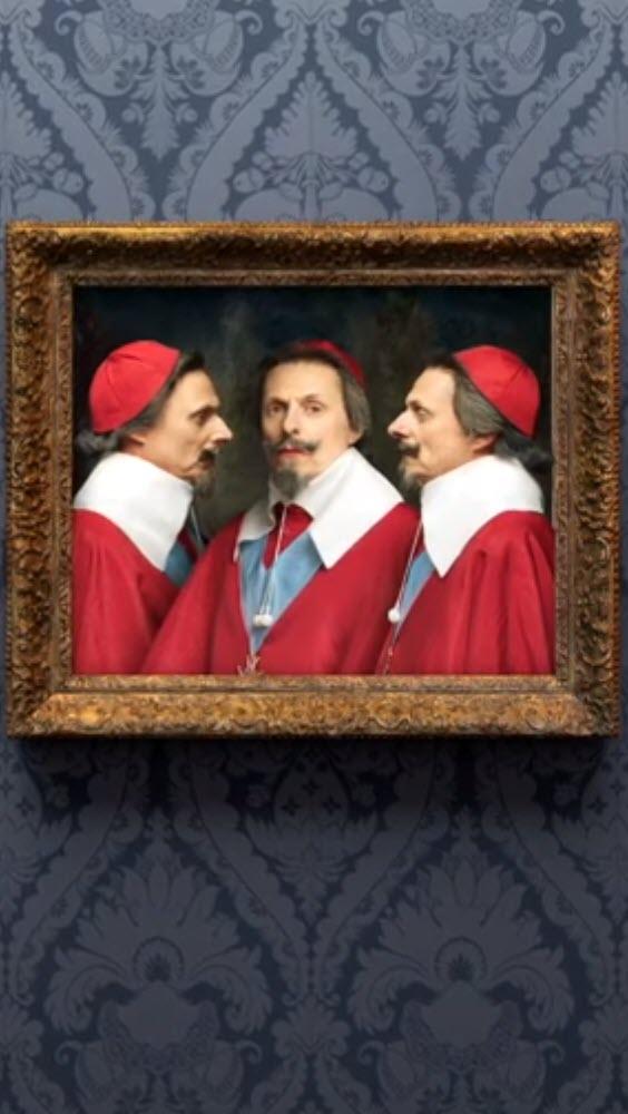 Preview image for LOM object Bilder allein zuhaus: Dreifaches Porträt von Richelieu