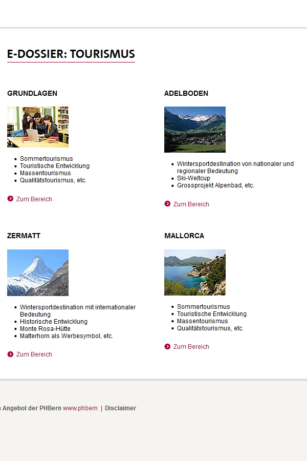 Preview image for LOM object E-Dossier Tourismus