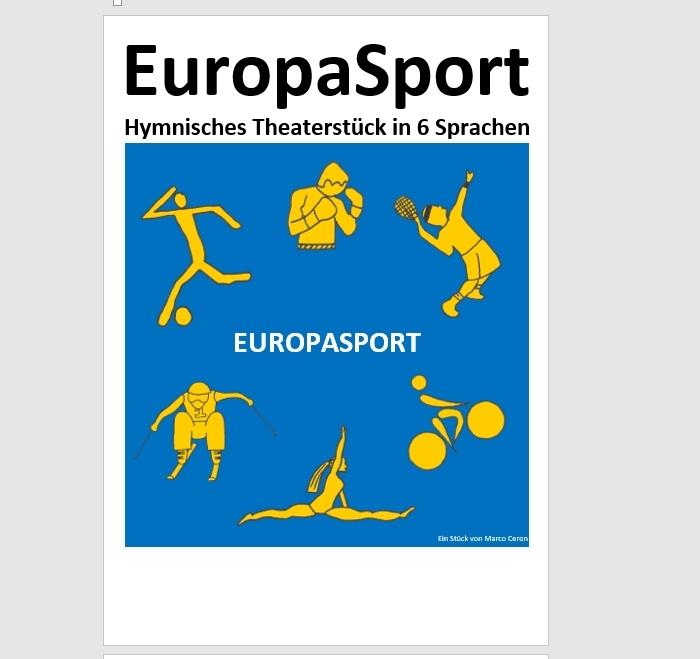 Preview image for LOM object Theater: Europasport - Eine hymnische Sportsendung in 6 Sprachen