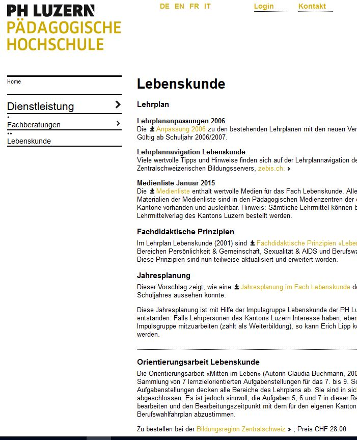 Preview image for LOM object Fachberatung Lebenskunde