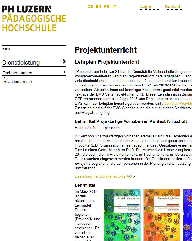 Preview image for LOM object Fachberatung Projektunterricht