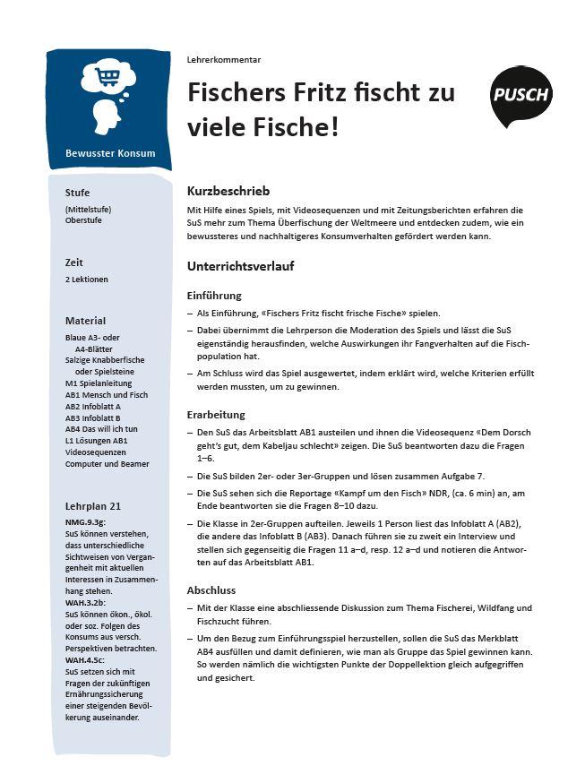 Preview image for LOM object Fischers Fritz fischt zu viele Fische!