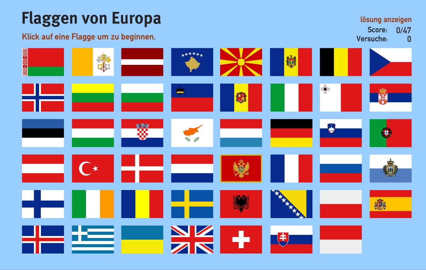Flaggen Eu Länder