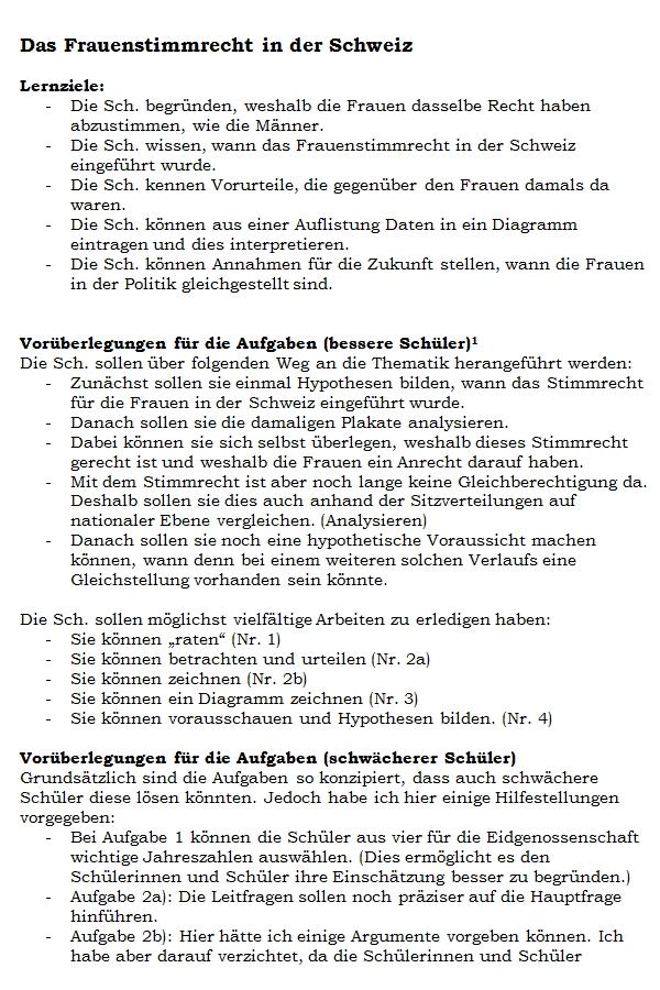 Preview image for LOM object Das Frauenstimmrecht in der Schweiz
