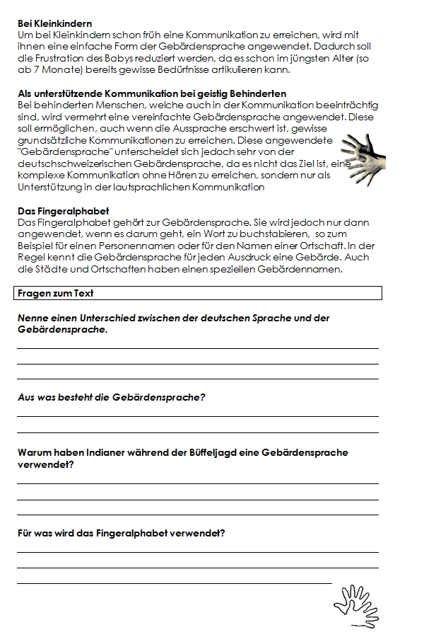 Preview image for LOM object Die Gebärdensprache