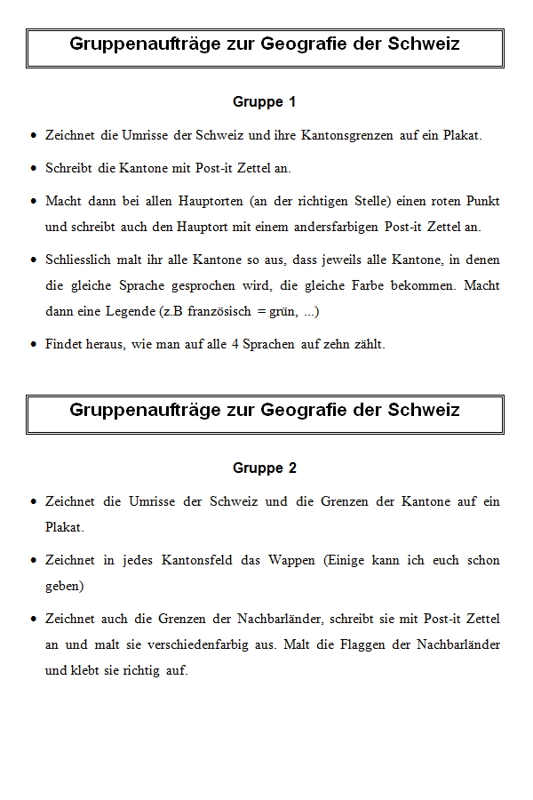 Preview image for LOM object Geografie der Schweiz