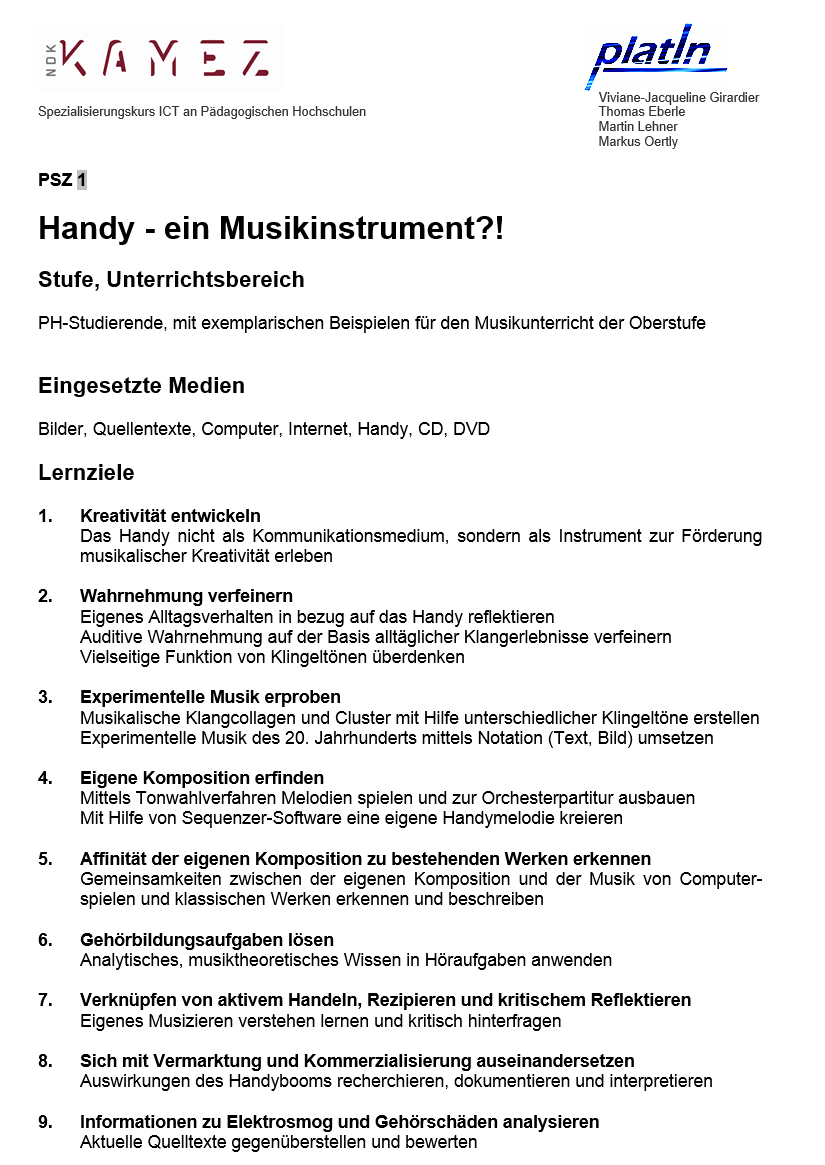 Preview image for LOM object Handy, ein Musikinstrument?