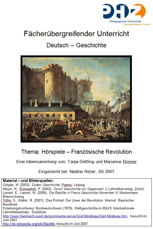 Preview image for LOM object Französische Revolution