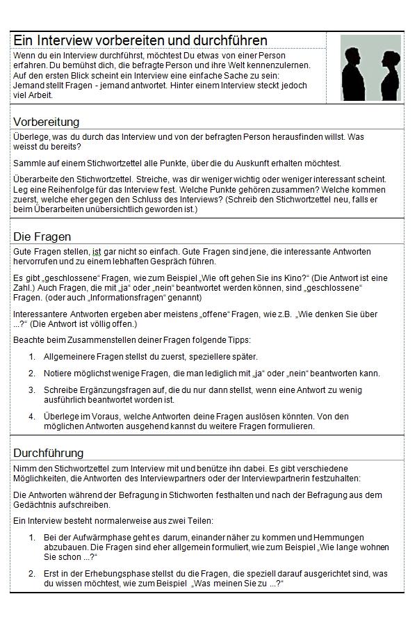 Preview image for LOM object Ein Interview vorbereiten und durchführen