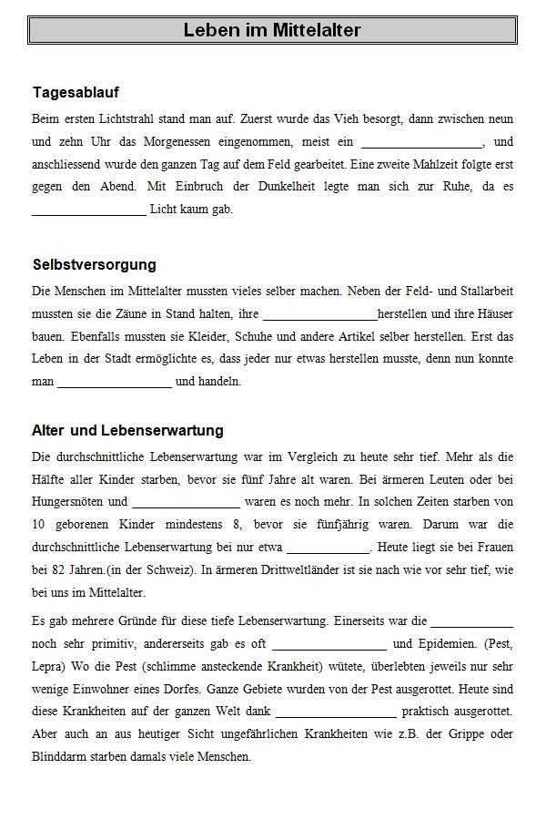 Preview image for LOM object Leben im Mittelalter