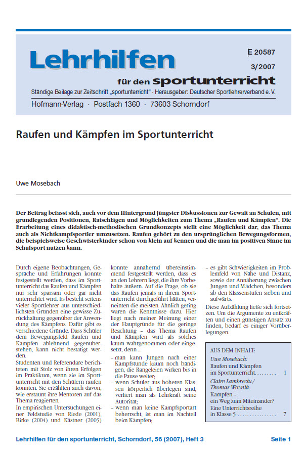 Preview image for LOM object Kämpfen im Sportunterricht