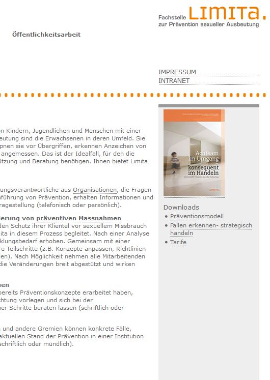 Preview image for LOM object Limita (Fachstelle zur Prävention sexueller Ausbeutung)