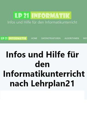Preview image for LOM object LP 21 Informatik - Infos und Hilfe für den Informatikunterricht