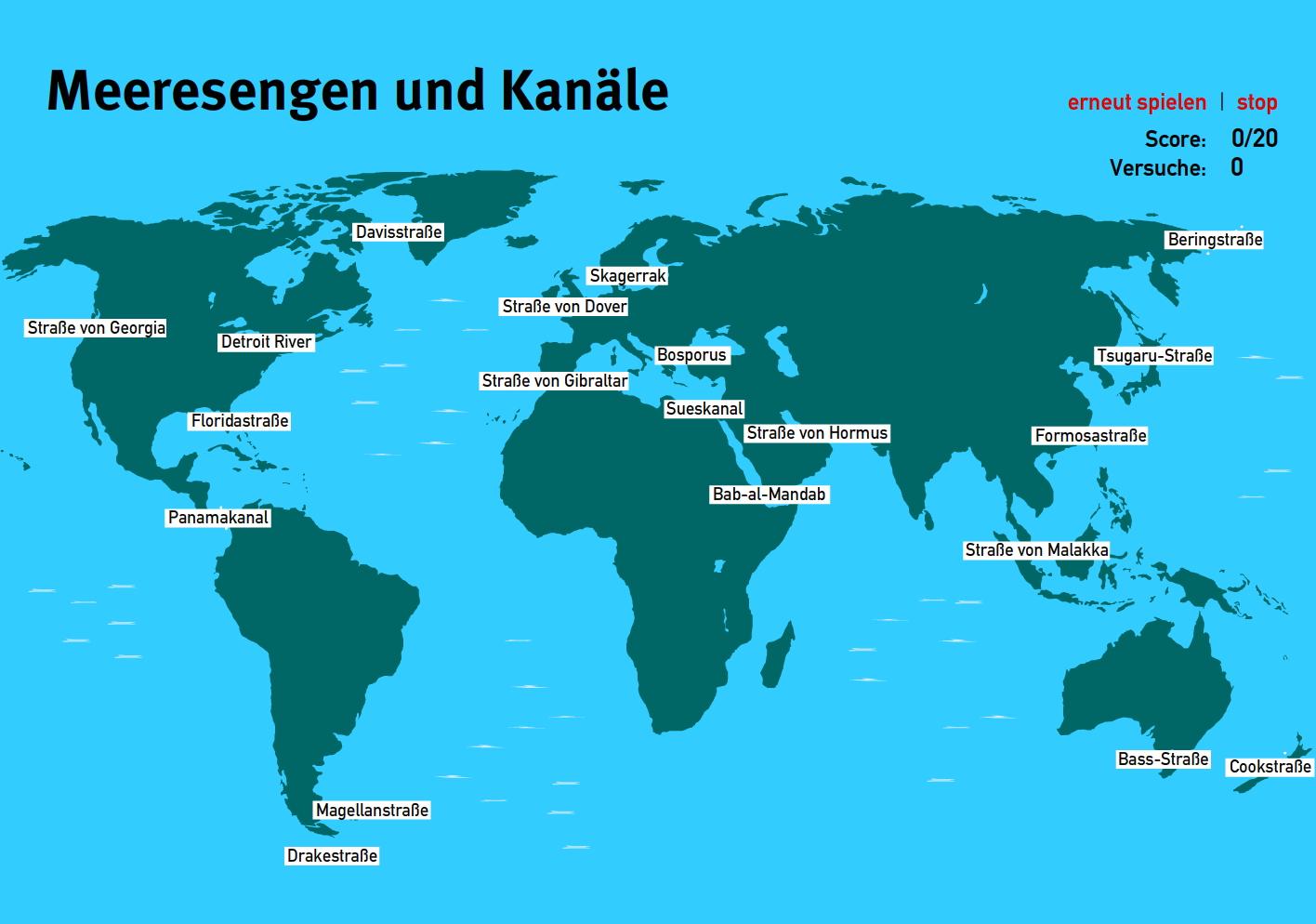 Preview image for LOM object Meeresengen und Kanäle der Welt