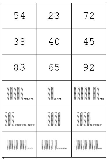 Preview image for LOM object Memo-Spiel: Zahl und Ziffern im Stellenwertsystem