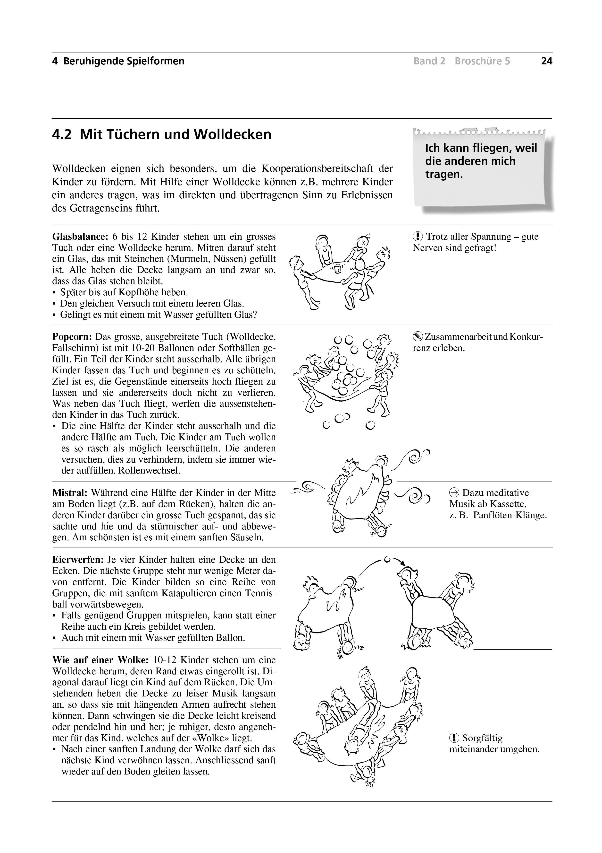 Preview image for LOM object Mit Tüchern und Wolldecken / Mein Freund - mein Teddy / Mit dem Sandsäcklein / Zum Abschluss