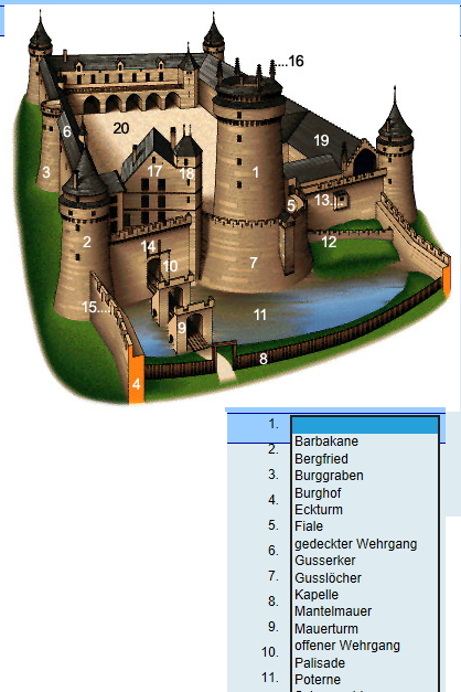 Preview image for LOM object Mittelalterliche Burg