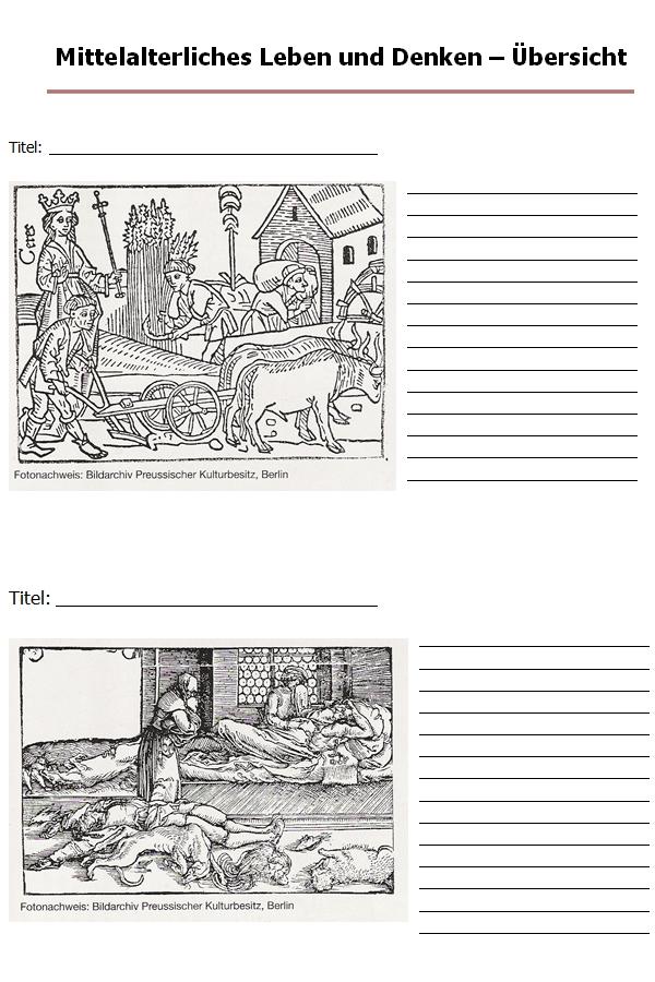 Preview image for LOM object Mittelalterliches Leben und Denken