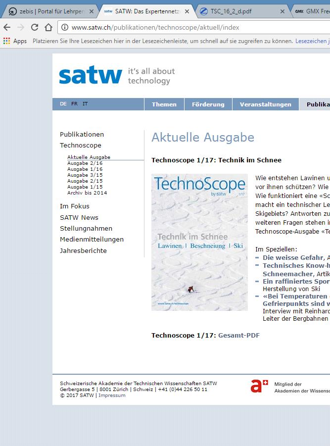 Preview image for LOM object Schweizerische Akademie der Technischen Wissenschaften (SATW)