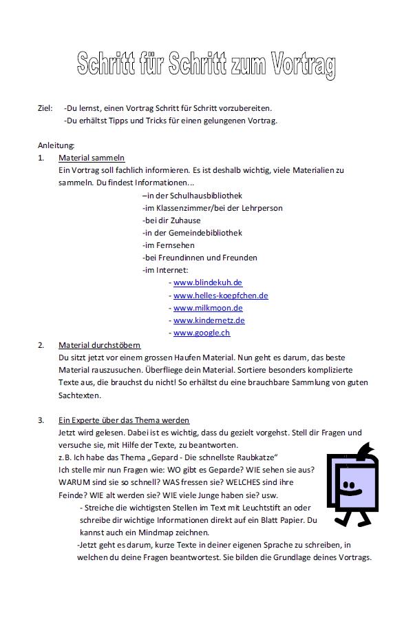 Preview image for LOM object Schritt für Schritt zum Vortrag