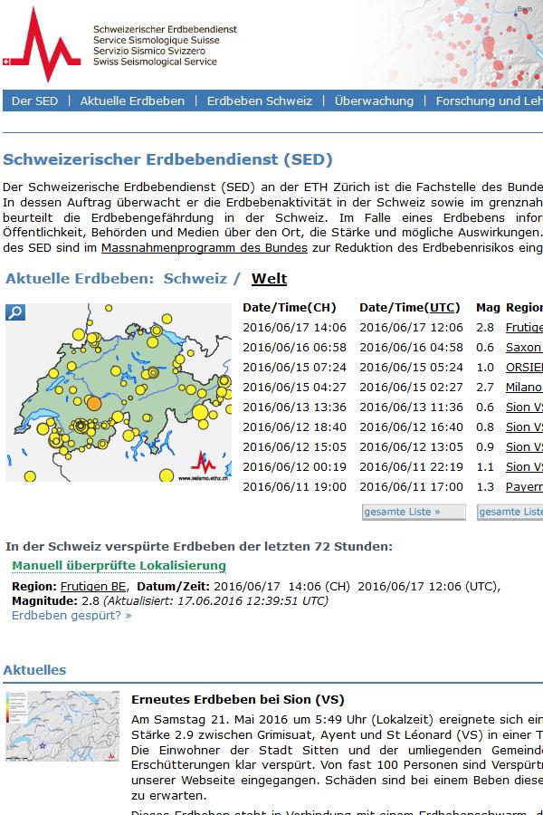 Preview image for LOM object Schweizerischer Erdbebendienst SED