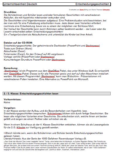 Preview image for LOM object Entscheidungsgeschichten herstellen