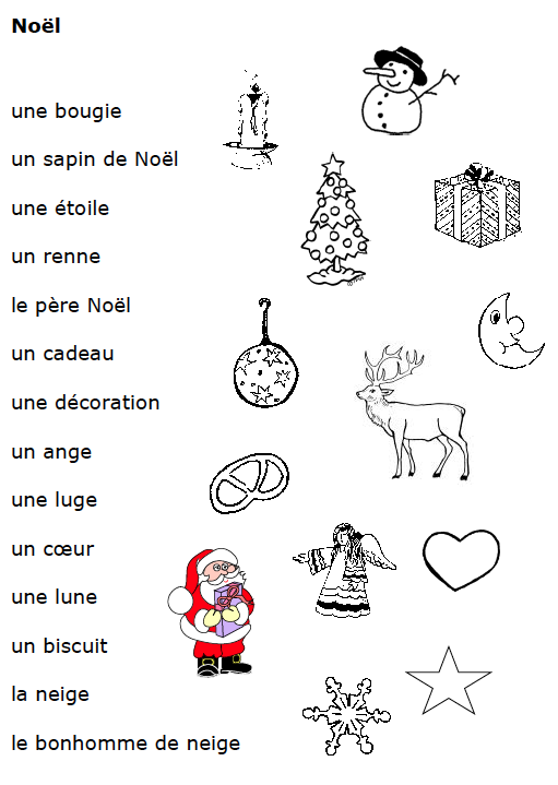 Preview image for LOM object Vocabulaire: Noël