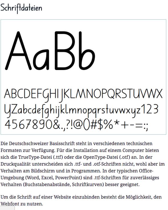 Preview image for LOM object Die Deutschschweizer Basisschrift