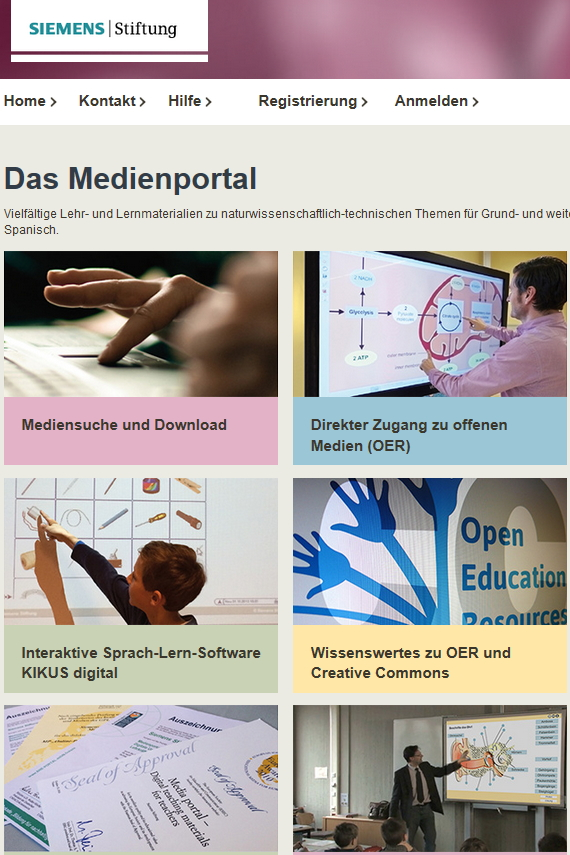 Preview image for LOM object Medienportal der Siemens Stiftung