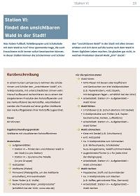 Preview image for LOM object SOKO Wald - Auf den Spuren des Waldes in Schule, Stadt und Welt