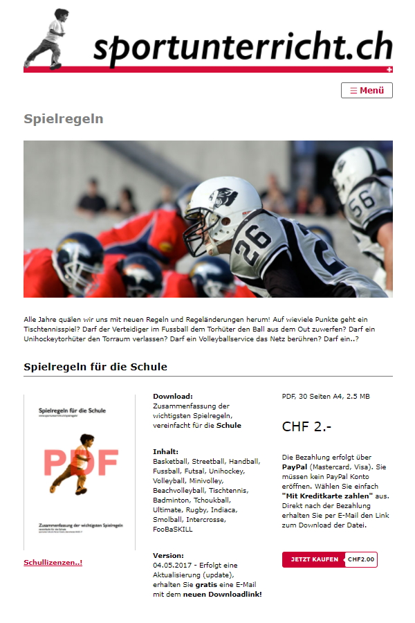Preview image for LOM object Spielregeln im Sportunterricht