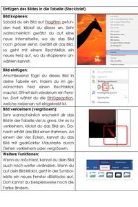 Preview image for LOM object Steckbrief mit Word erstellen (Tabelle und Grafik einfügen)