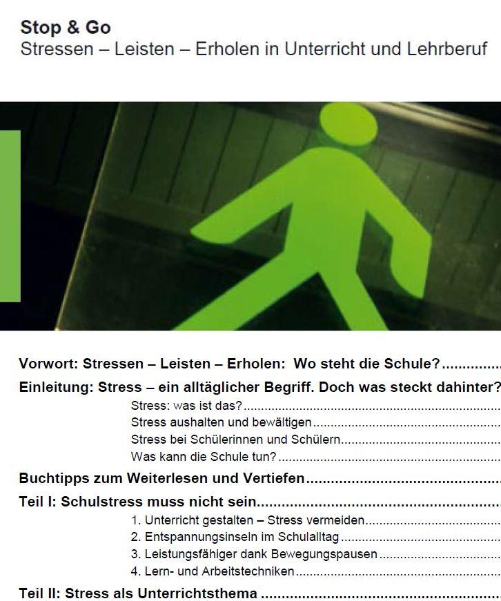 Preview image for LOM object Stop & Go (Leisten, Stressen, Erholen in Unterricht und Lehrberuf)