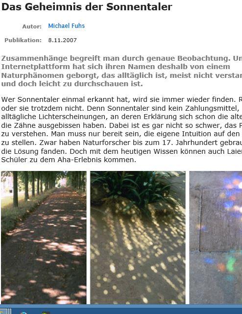 Preview image for LOM object Sonnentaler - ein Lichtphänomen