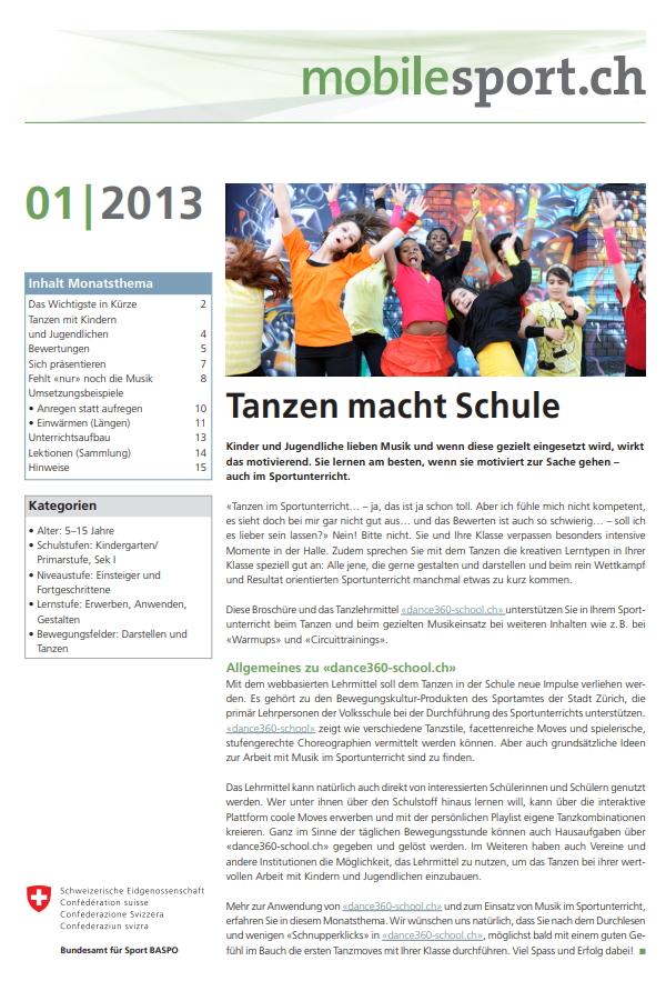 Preview image for LOM object Tanzen macht Schule - mobilesport Monatsthema